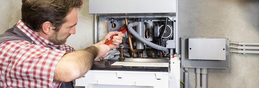 Installation de chaudières à gaz