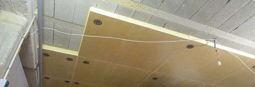 isolation du plafond d'un sous sol